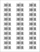 Single Product UPC Barcodes Avery