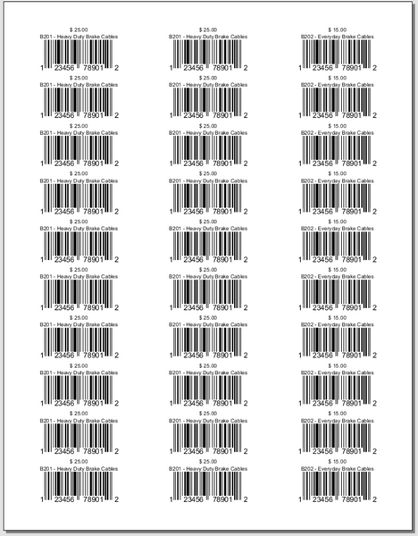 Product UPC Barcodes By Sales Order - Avery