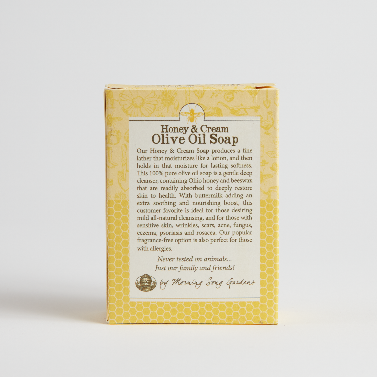 Morning Song Gardens Honey & Cream Olive Oil Soap - 4.5 Oz