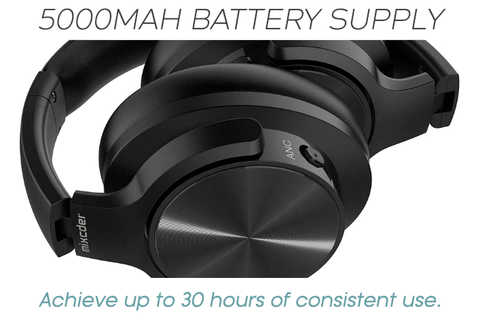 Achieve up to 30 hours of consistent wireless use!
