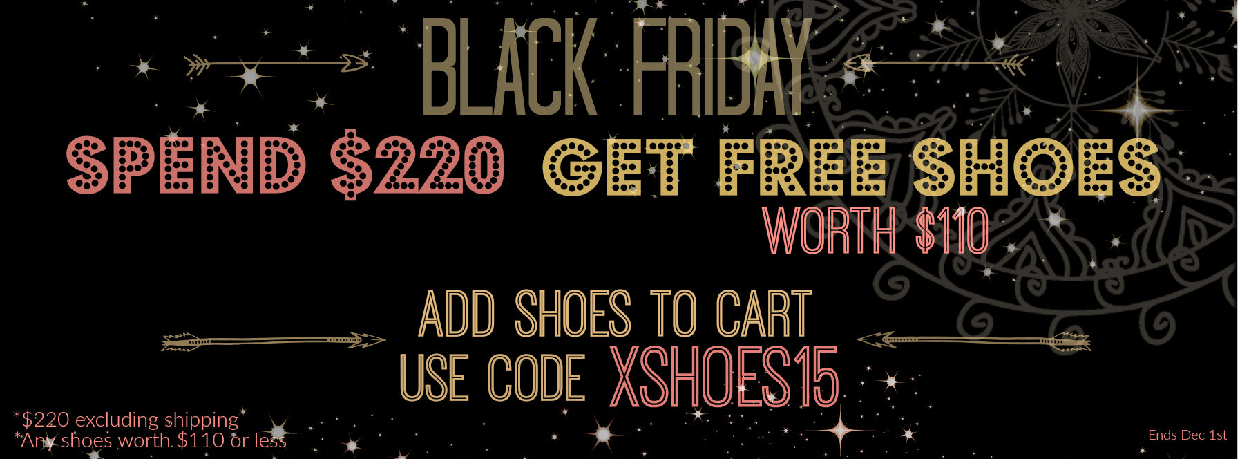 Black Friday special. Free shoes