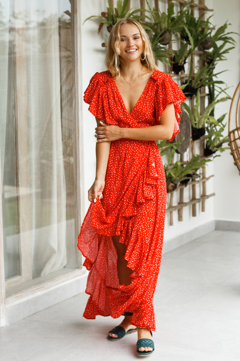 Carmen Wrap Maxi Dress