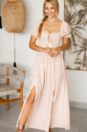 Margarita Off Shoulder Smock Dress