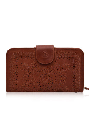 Leather Wallet/Clutch - Marrakech Leather Zip Clutch