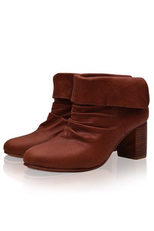 Leather Shoes - Velvet Moon Foldover Boots
