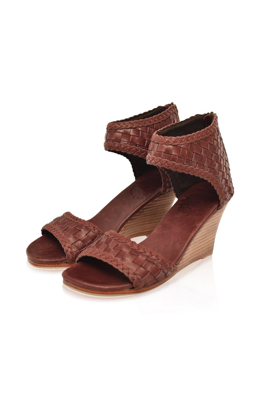 Leather Shoes - Athena Leather Wedges