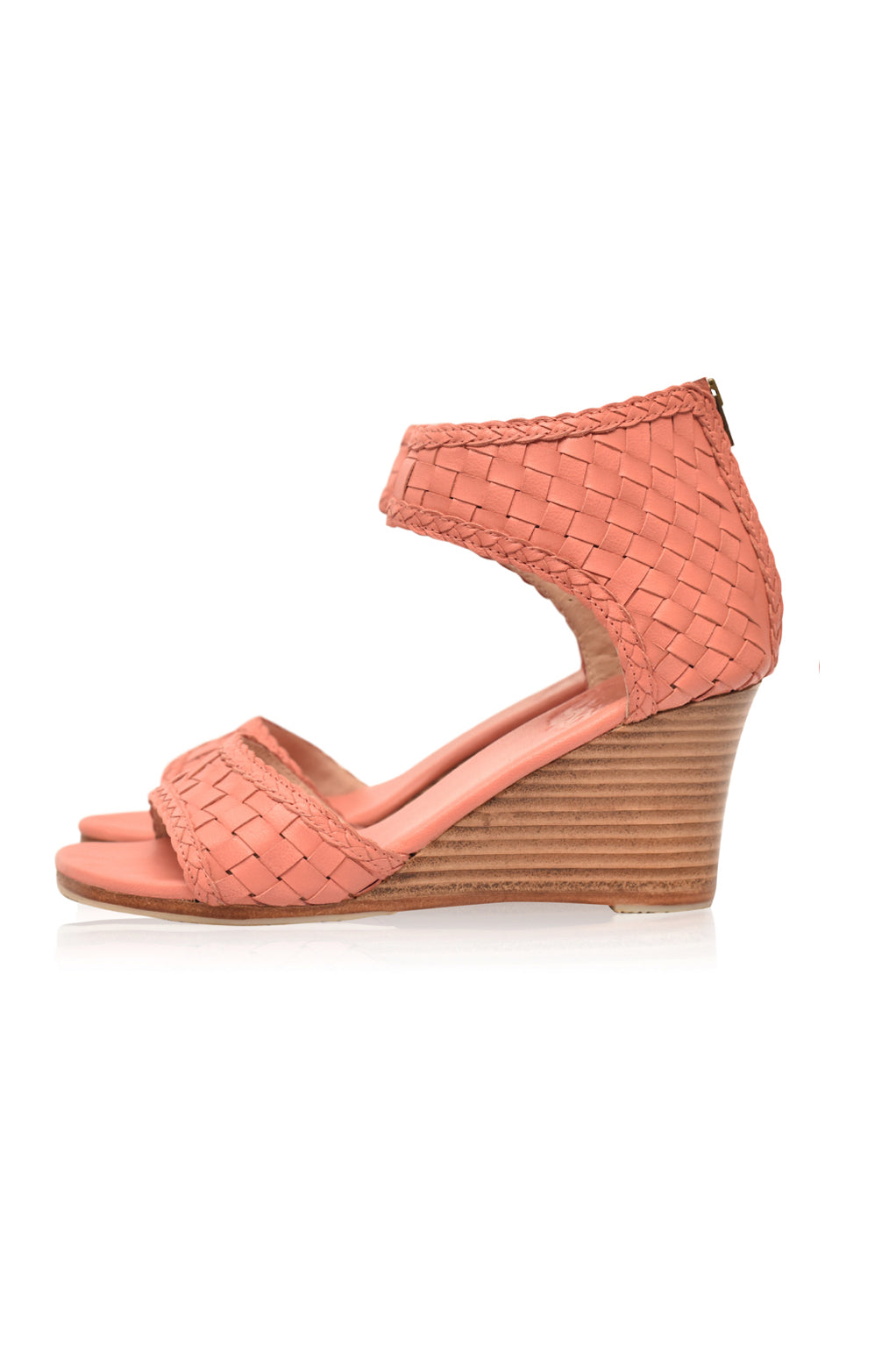 Athena Leather Wedges