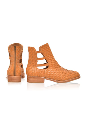 Avenue Woven Leather Boots