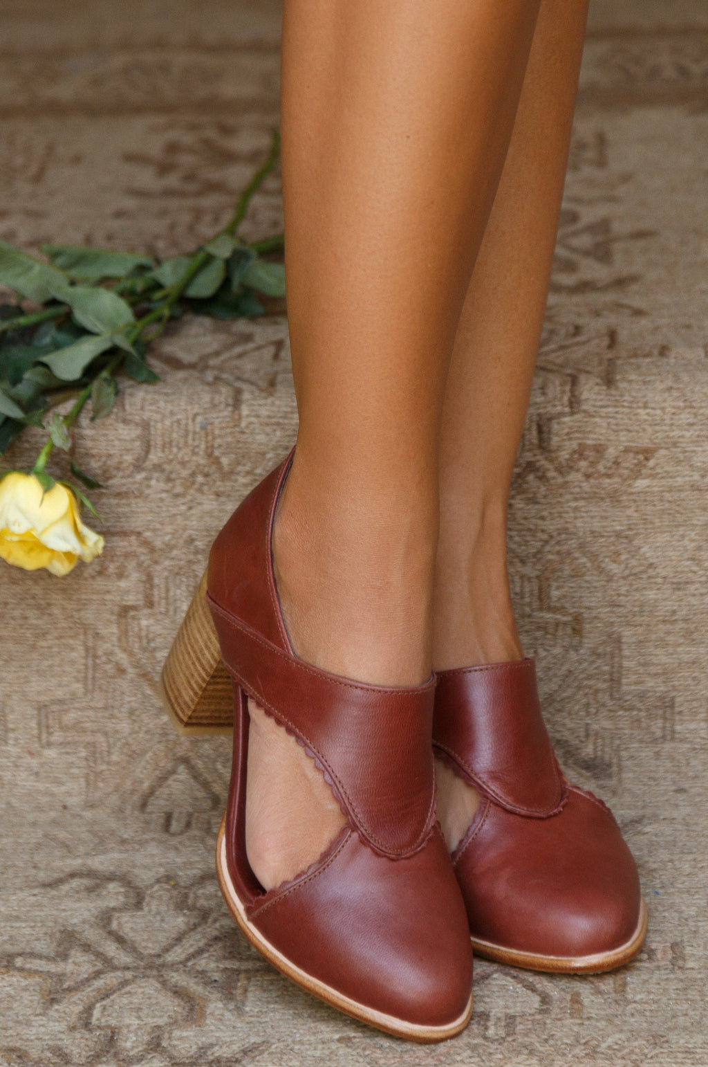 Leather Shoes - Rain Kiss Leather Booties