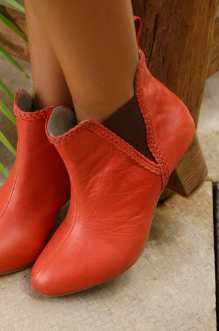 Rain Kiss Leather Booties