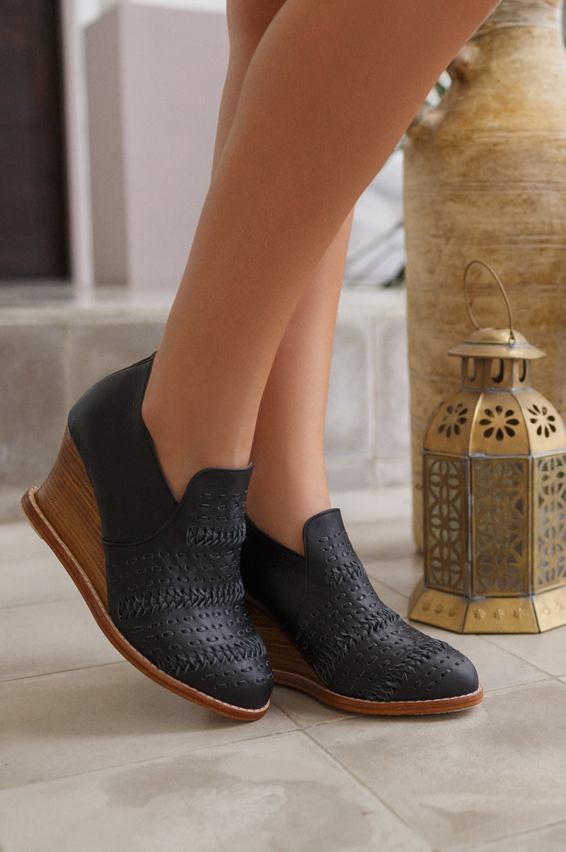 Wind Chaser Wedge Booties
