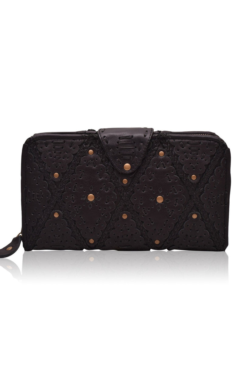 Leather Wallet/Clutch - Colibri Leather Crossbody Clutch