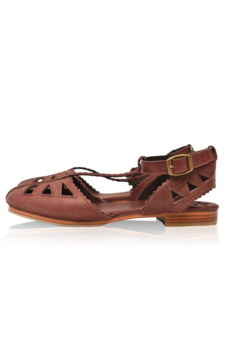 Leather Shoes - Bounty T-strap Leather Sandals