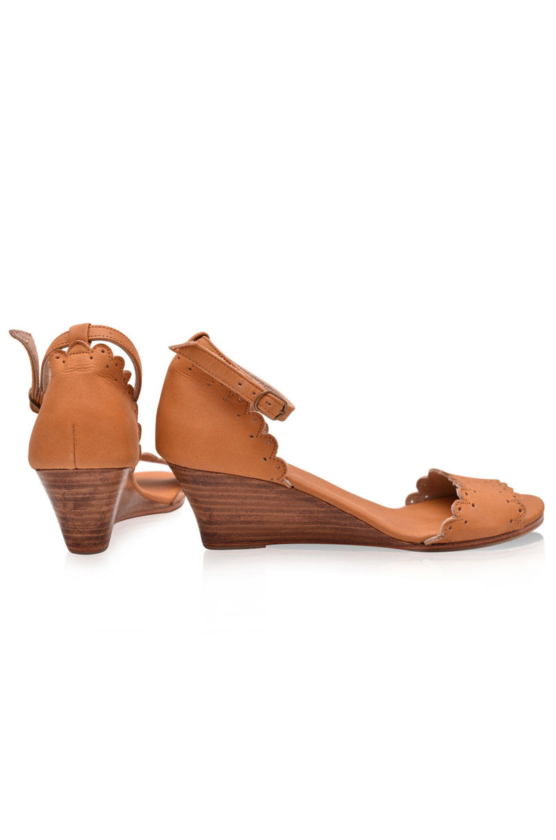 Dreamland Leather Wedges