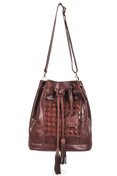 Vintage brown color back pack