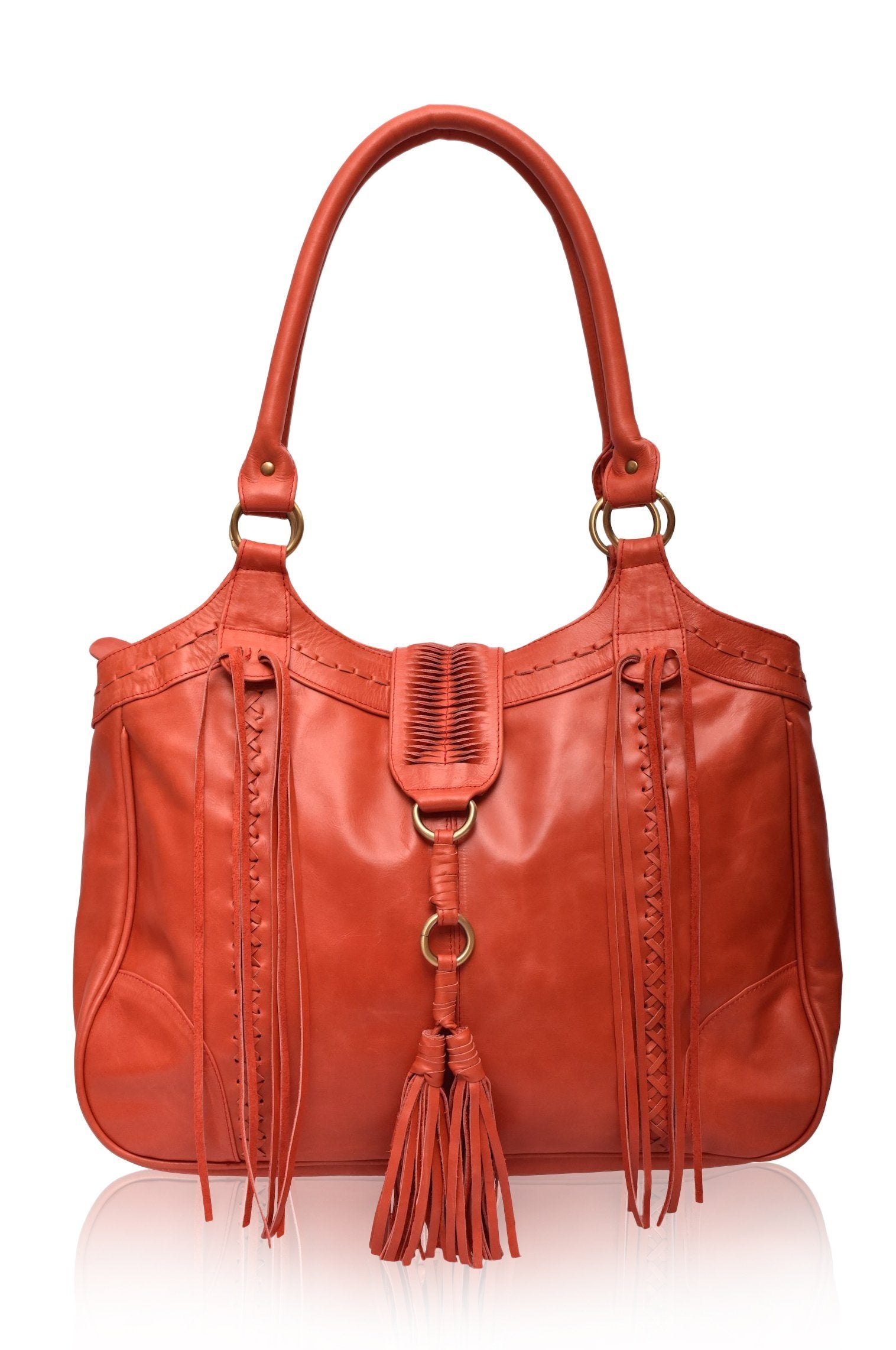 FREE SPIRIT. Handmade boho chic leather tote – ELF 7ffe977f31036