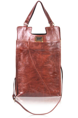 Leather Bag - Mi Vida Foldover Tote