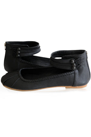 Leather Shoes - Muse Ballet Flat