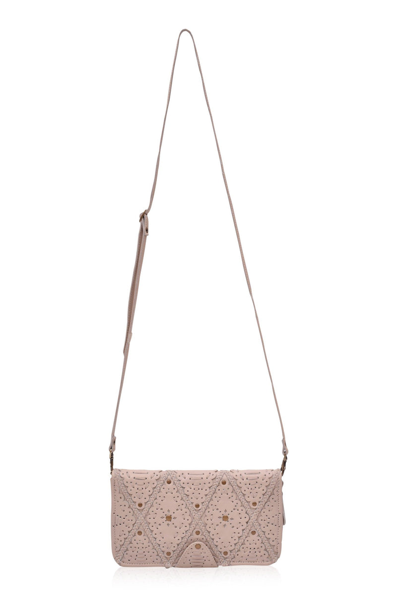 Colibri Leather Crossbody Clutch