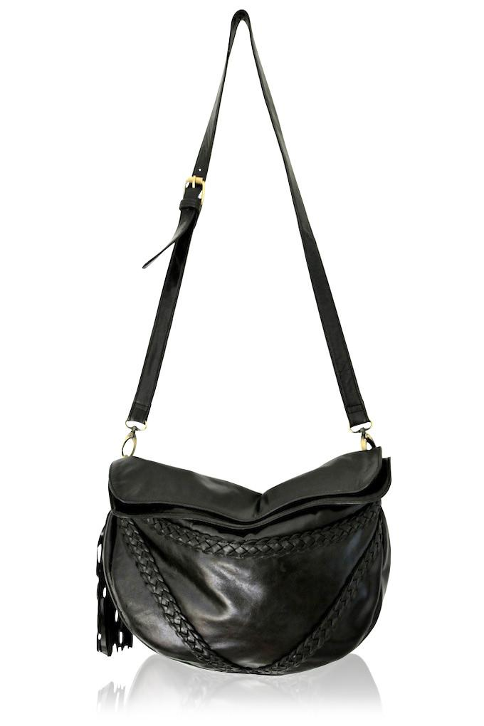 Black color leather small bag