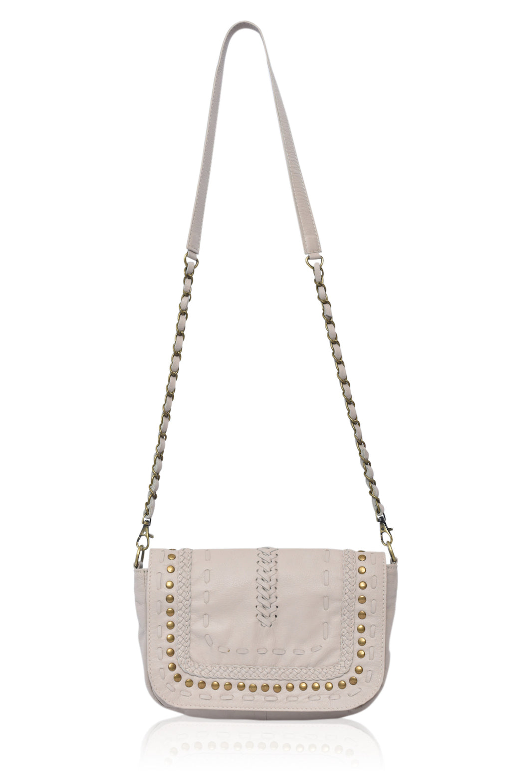 Queen of Sun Leather Crossbody (Ivory)