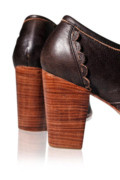 Oxford heels wooden heel