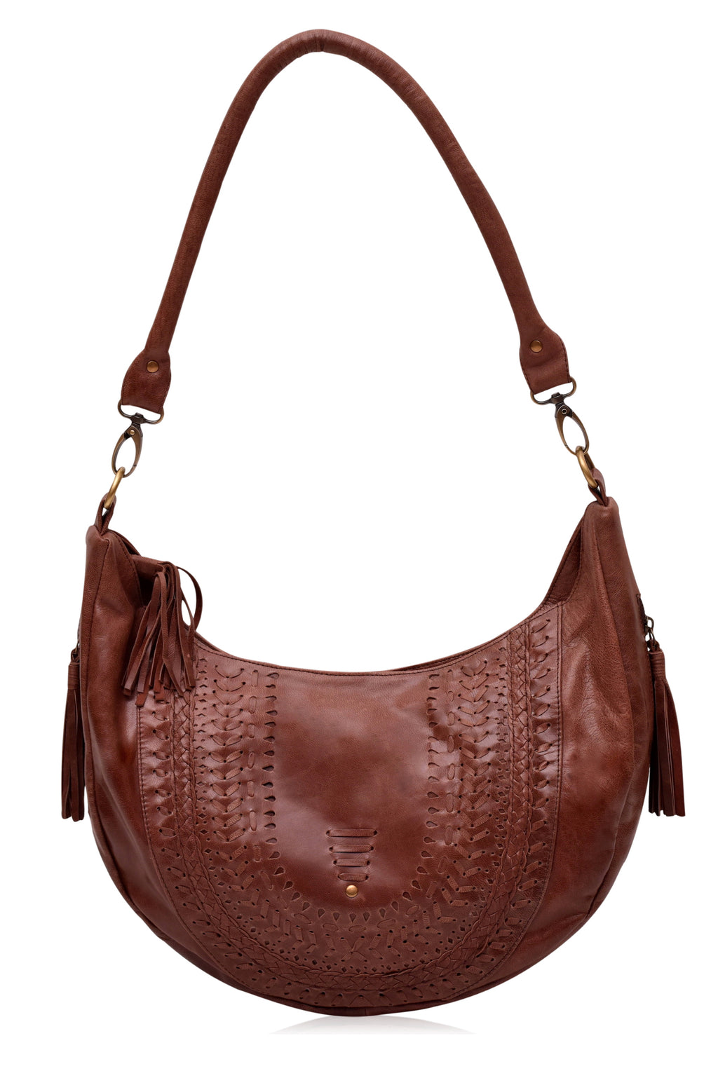 Elysian Coast Leather Crossbody Bag (Vintage Brown)