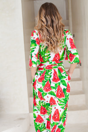 Free Feeling Midi Wrap Dress