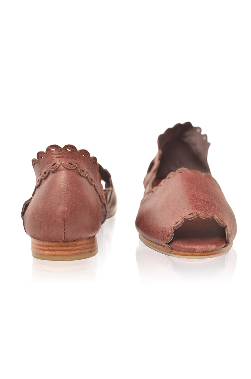 Hazy Sun Leather Flats