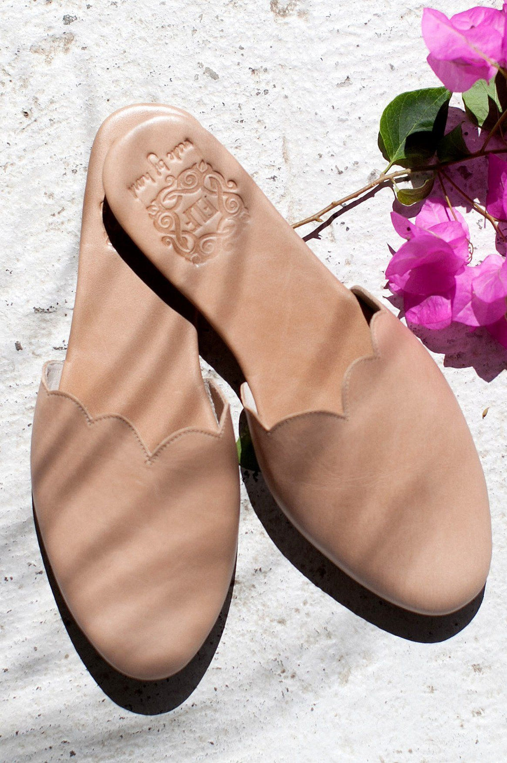 Leather Shoes - Sahara Leather Slide Shoes
