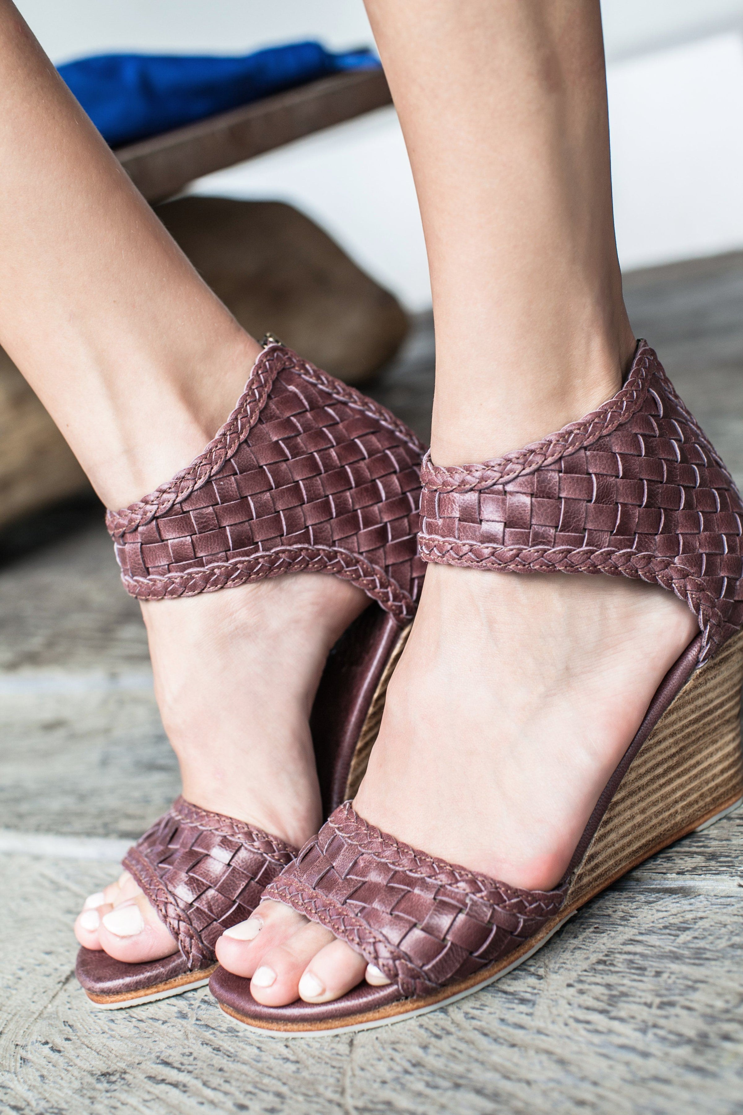 642418b804f7 Home Leather Shoes Athena Leather Wedges Sandals