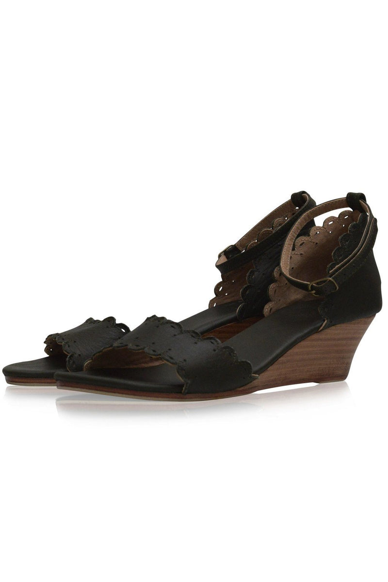 Leather Shoes - Dreamland Leather Wedges