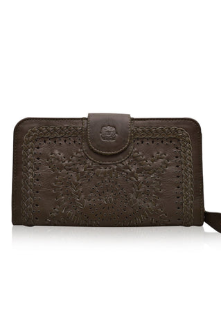 NEW COLOR! Marrakech Leather Zip Clutch