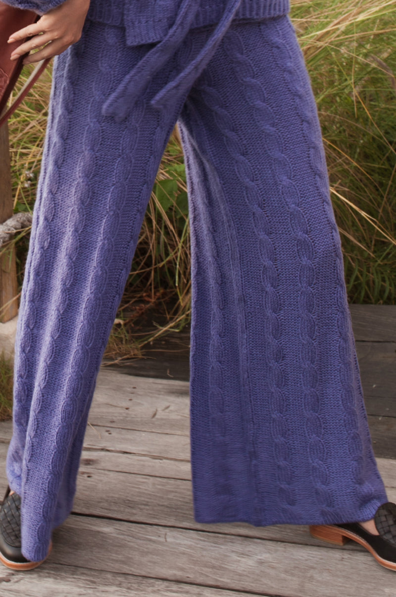 Lavender Terrace Knit Pants