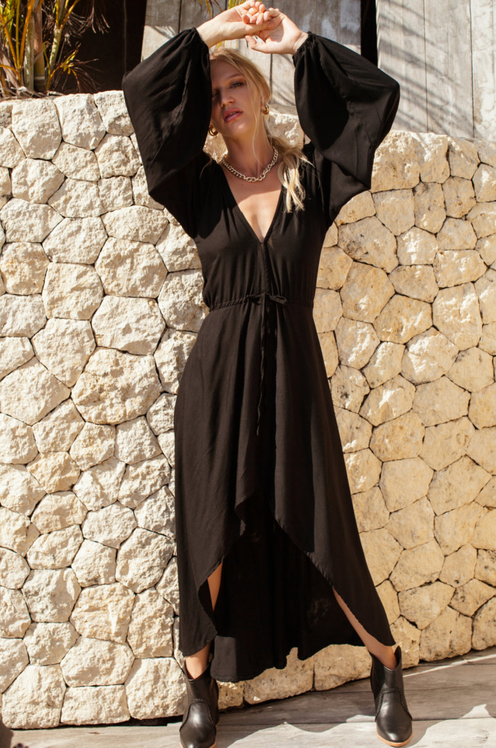 Linda High Low Dress