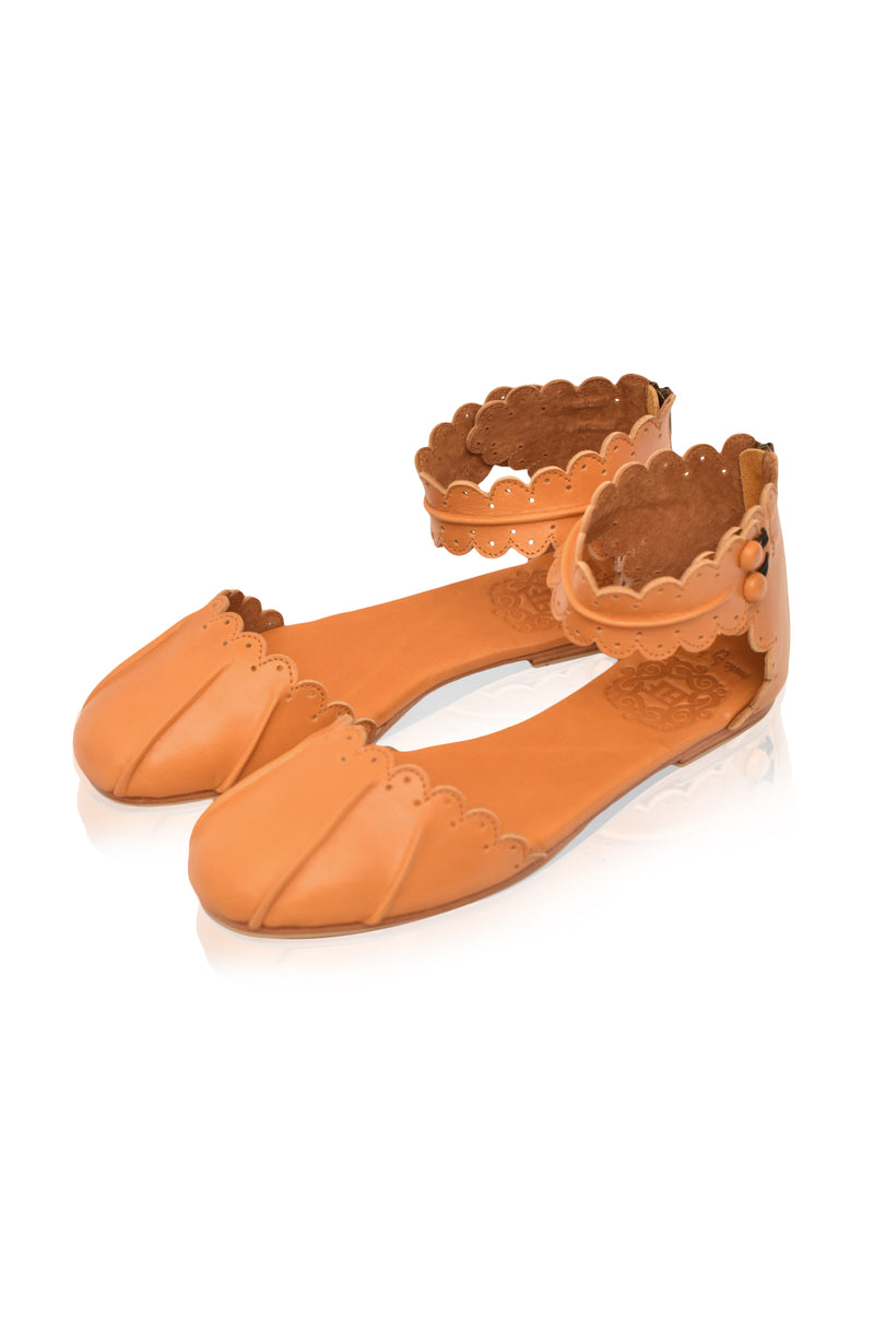 Love Bird Leather Flats
