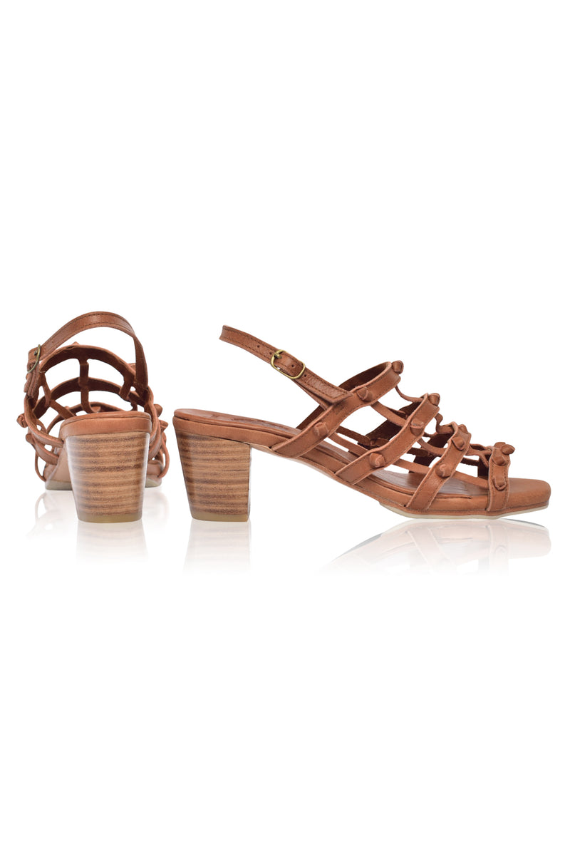 Magica Woven Leather Heels