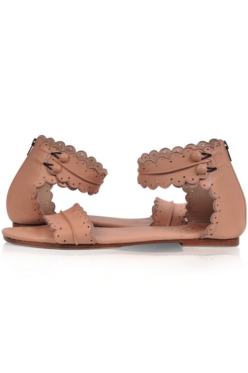 Soft womens leather sandals
