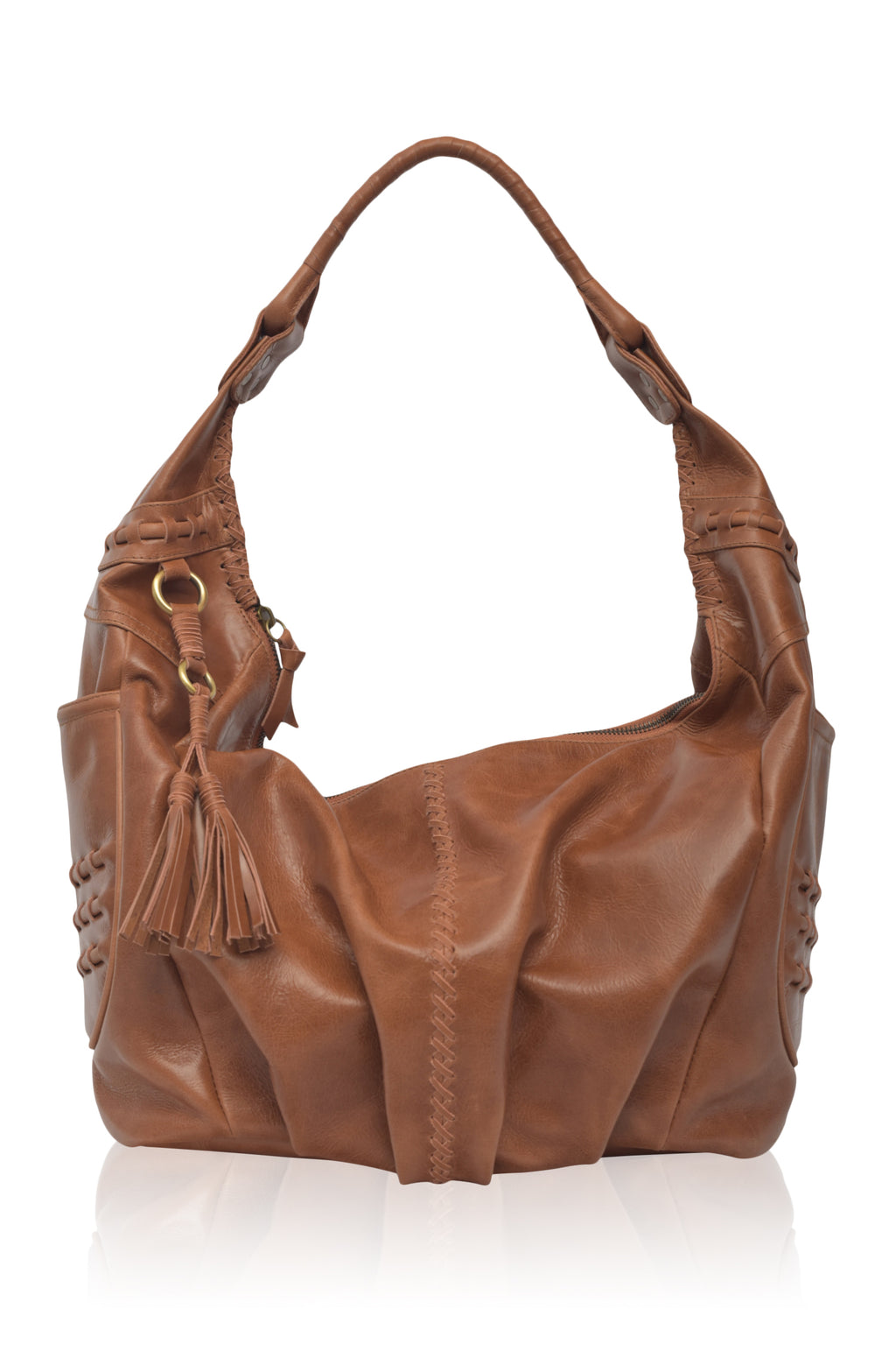 Monte Carlo Leather Hobo Bag