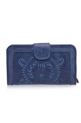 Marrakech Leather Zip Clutch
