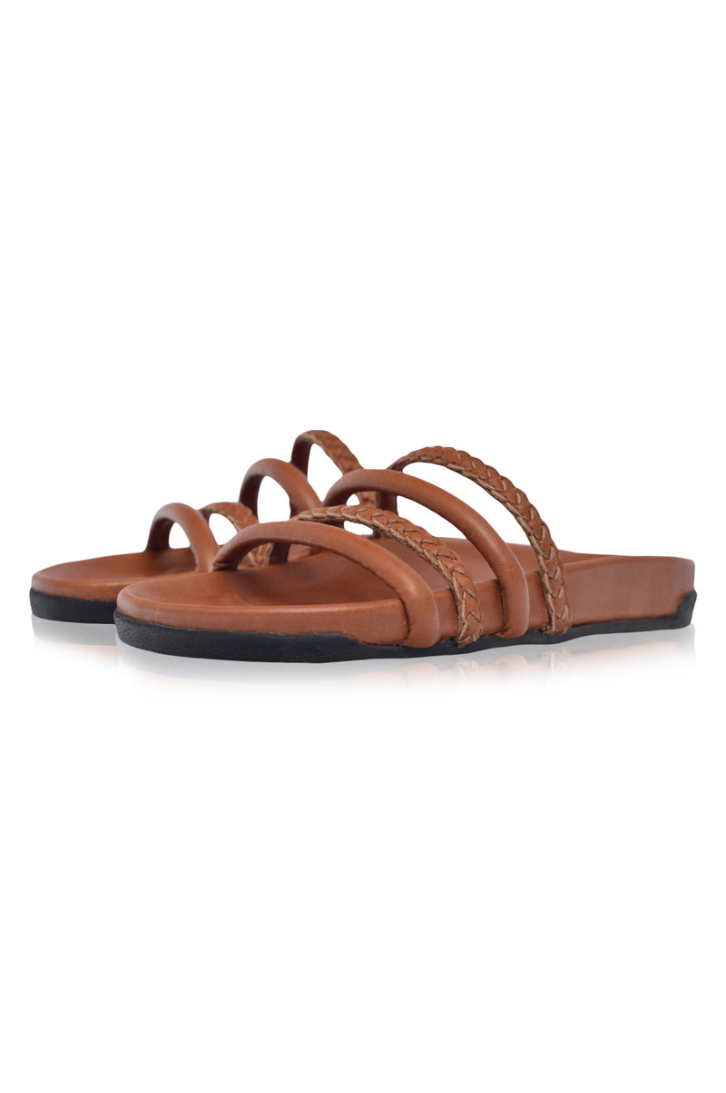 Castaway Leather Slides