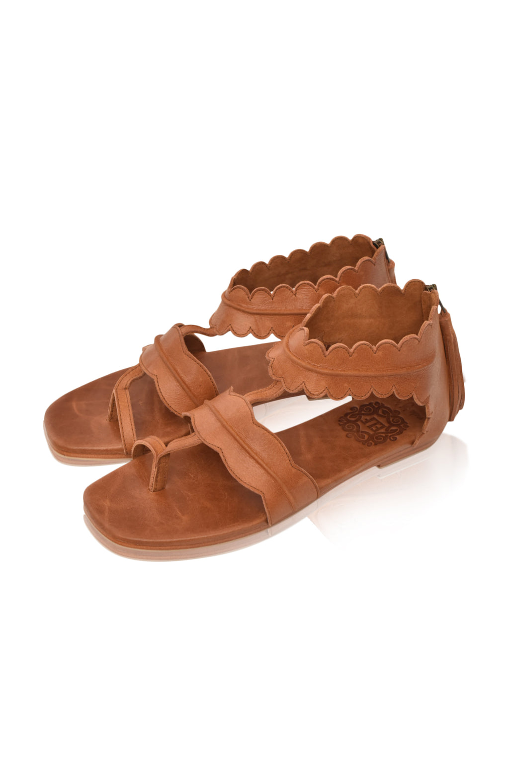 Oceania Thong Leather Sandals (Sz. 7)