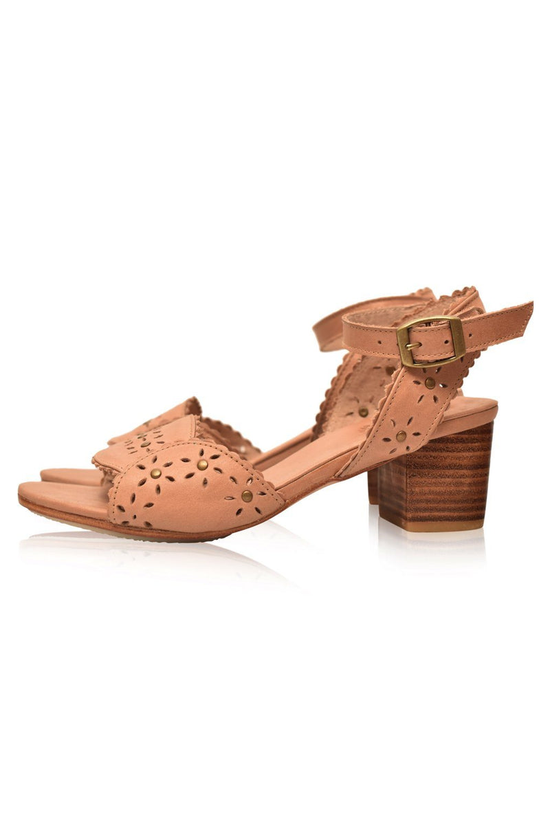 Leather Shoes - Paloma Leather Heel Sandals