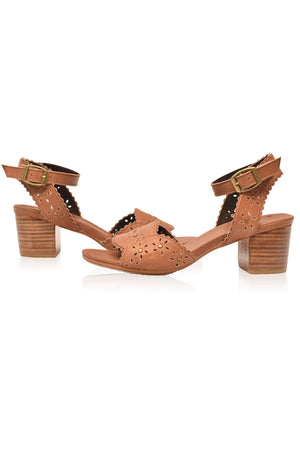 Paloma Leather Heel Sandals
