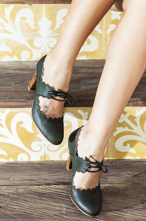 Paradise Bird Leather Heels