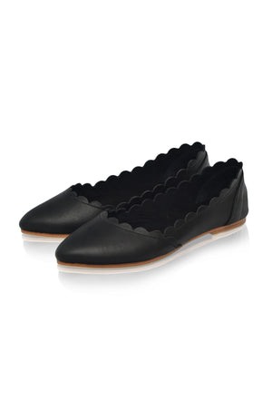 Valentina Leather Ballet Flats