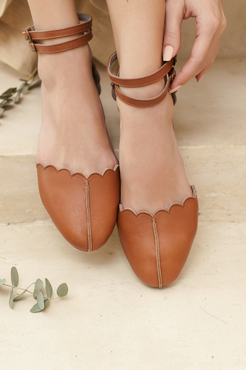 Venus Leather Flats