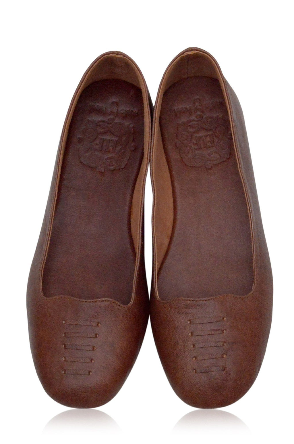 Leather Shoes - Luna Ballet Flats