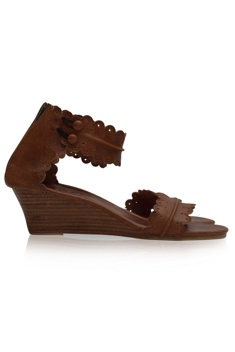 Leather Shoes - Magdalena Wedges