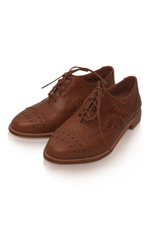 Leather Shoes - Heartbreak Leather Oxfords